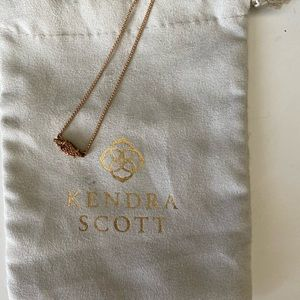Kendra Scott rose gold druzy Necklace